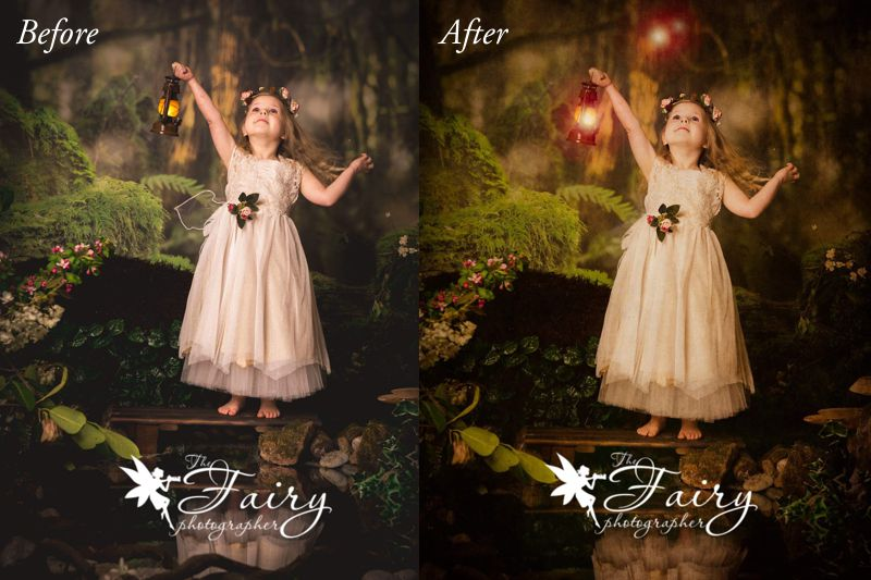 Fairy photo editing